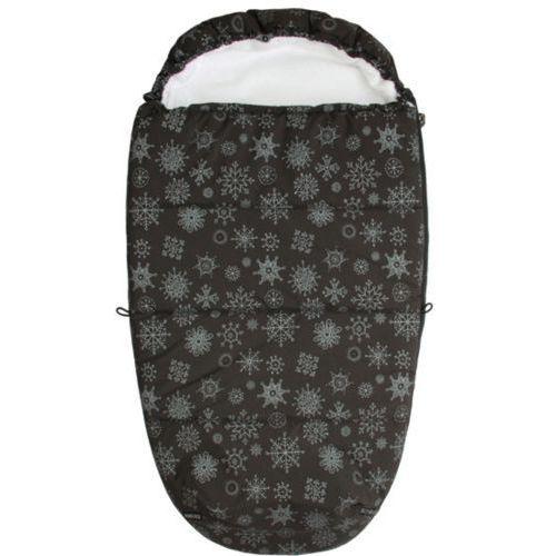 Emitex Śpiworek do wózka MUMIE Płatek śniegu, czarny/biały