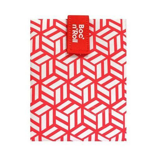 Boc'n'Roll Roll'n'Eat Tiles chusta do zawijania jedzenia / lunchbox - czerwony (8414606815692)