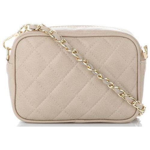 f21000ac8a7da modna pikowana torebka skórzana listonos... Producent Vittoria Gotti   Rodzaj listonoszka  Kolor beżowy