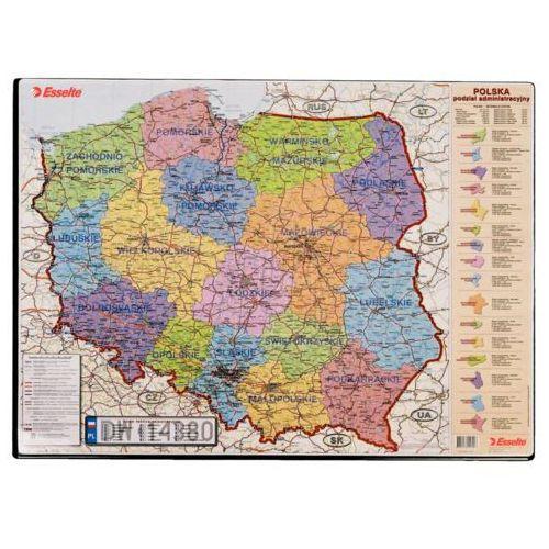 Esselte Mata na biurko  z mapą polski 12051 (5701216120517)