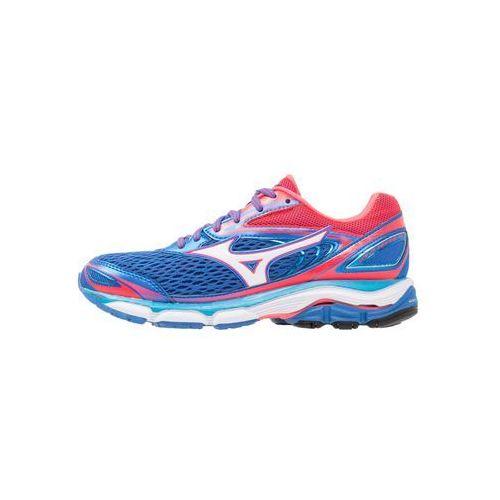 Mizuno WAVE INSPIRE 13 Obuwie do biegania Stabilność strong blue/white/diva pink