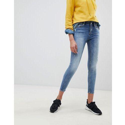 skinny low waist jeans - blue marki Stradivarius