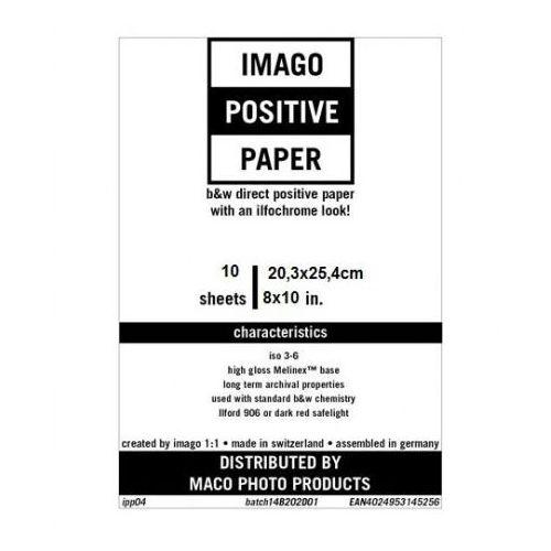 """Imago direct positive 8x10""""/10 rc błysk papier pozytywowy marki Rollei film"""