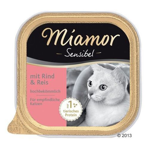 Megapakiet Miamor Sensibel, 24 x 100 g - Indyk z makaronem (4000158750525)