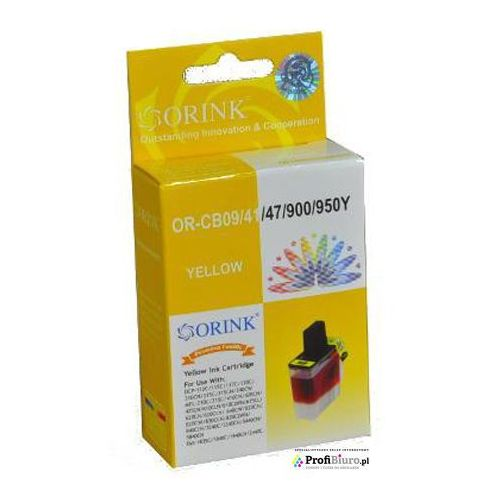 Tusz lc900yyj1-or yellow do drukarek brother (zamiennik brother lc900y) [20ml] marki Orink