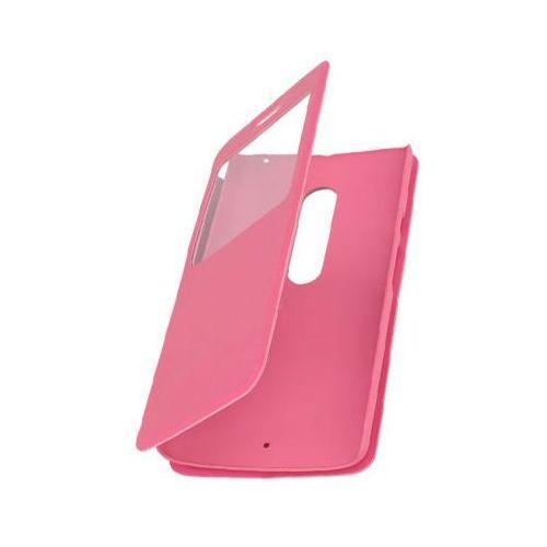 Flip Leather Różowy | Etui z klapką dla Motorola Moto X Style - Różowy, kolor różowy