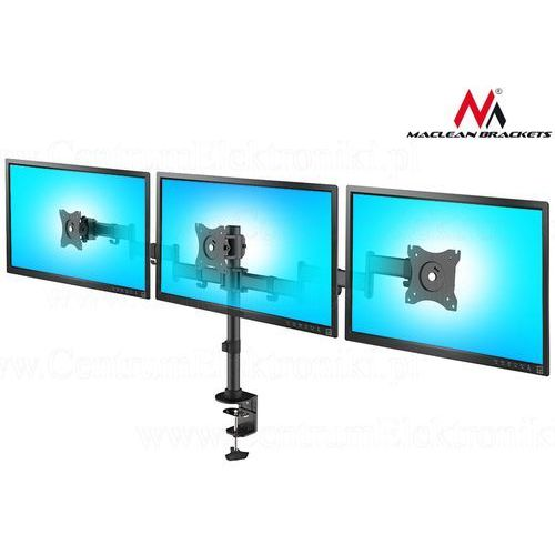 Uchwyt biurkowy na 3 monitory LCD podwójne ramiona Maclean MC-691 13