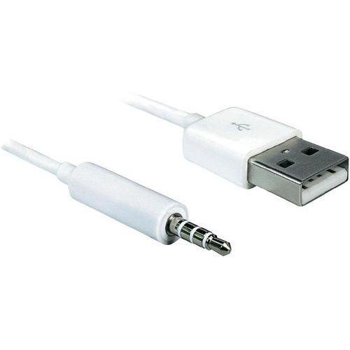 Kabel do iPod Delock 83182, [1x złącze męskie USB 2.0 A - 1x złącze męskie jack 3,5 mm], 1 m (4043619831821)