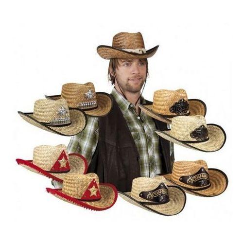 Kapelusz kowboj słomkowy przebrania dla dorosłych - różne wzory marki Aster
