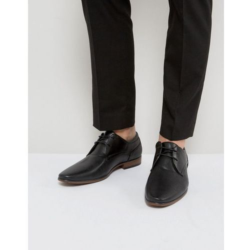River island derby shoes with perforated detail in black - black