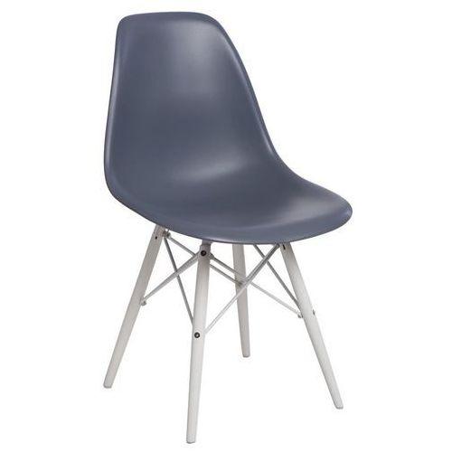D2design Krzesło p016w pp dark grey/white (5902385724609)