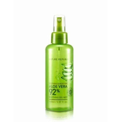 Nature republic aloe vera 92% soothing gel mist 150ml - mgiełka zawierająca w swoim składzie ekstrakt z liści aloesu - 150 ml
