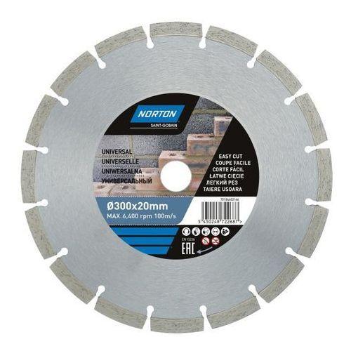 Tarcza diamentowa Norton do cięcia uniwersalna 300 x 20 mm (5450248722687)