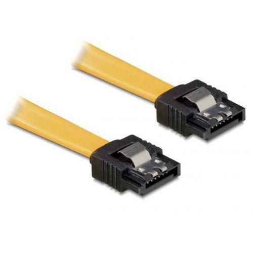 Delock Kabel SATA II 3Gb/s 10cm (metalowe zatrzaski) żółty DARMOWA DOSTAWA DO 400 SALONÓW !!, kup u jednego z partnerów