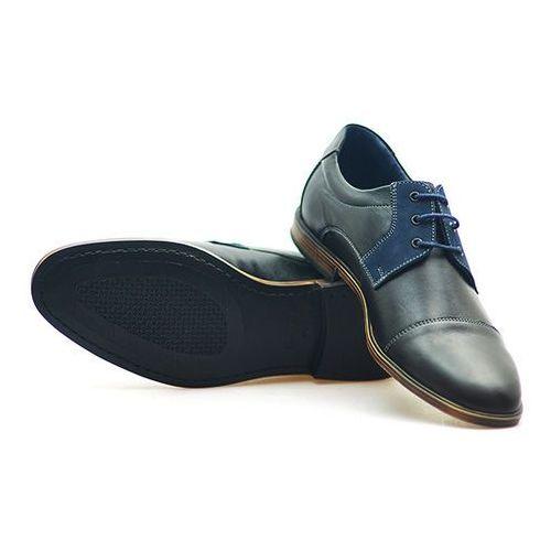 Pantofle Pan 920 Czarne lico Pan 920 Czarny/Granatowy