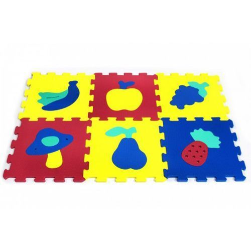 Puzzle piankowe 10 elementów Owoce i warzywa, 5_536448