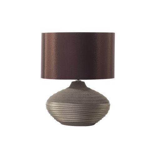 Nowoczesna lampka nocna - lampa stojąca - brązowa - lima marki Beliani