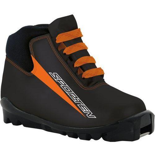Buty na biegówki favorit jr czarny/pomarańczowa 27 eu marki Sporten