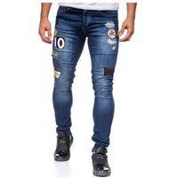 Spodnie jeansowe męskie granatowe denley 298, Otantik