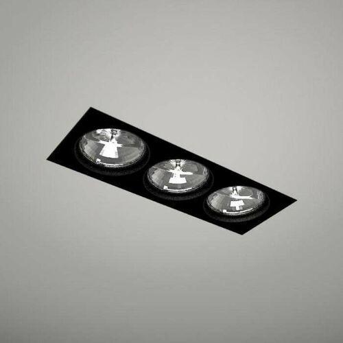 Oczko LAMPA podsufitowa KOMORO 3310/GU10/CZ Shilo prostokątna OPRAWA podtynkowa SPOT do zabudowy WPUST czarny, kolor biały;czarny