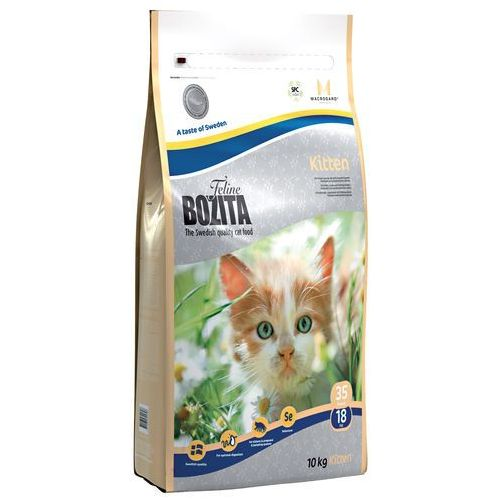 Bozita Feline Funktion - Kitten - karma dla kociąt i małych kotów oraz kotek w okresie ciąży lub laktacji, 10 kg (7311030301306)
