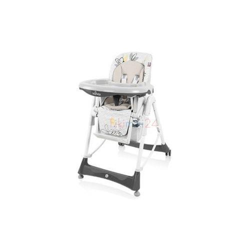 BABY DESIGN Krzesełko do karmienia BAMBI 07 szary, 11064