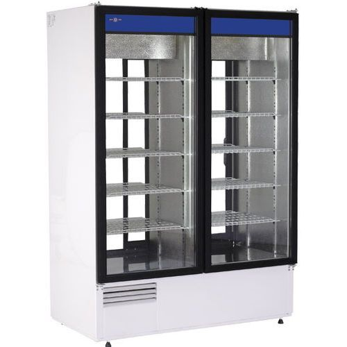 Szafa chłodnicza przelotowa przeszklona biała bez wentylatora, drzwi suwane 1108 l   , sch-2sr 1400 marki Rapa