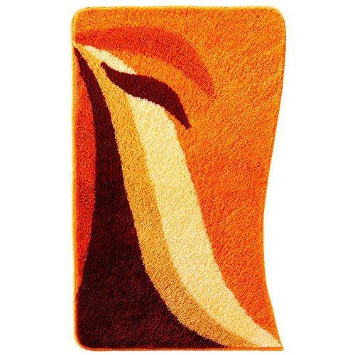 Dywaniki łazienkowe w falowane pasy terakota marki Bonprix