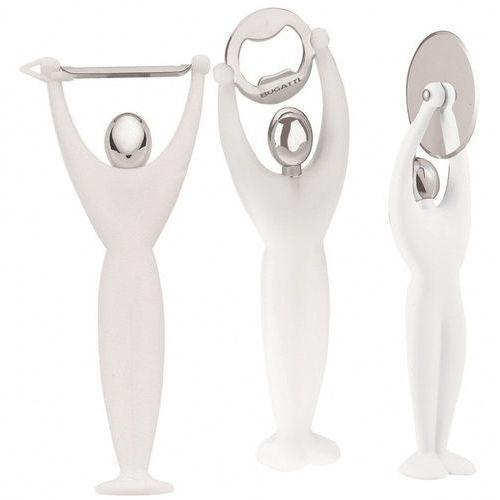 - gym zestaw 3 przyborów - biały - biały marki Casa bugatti