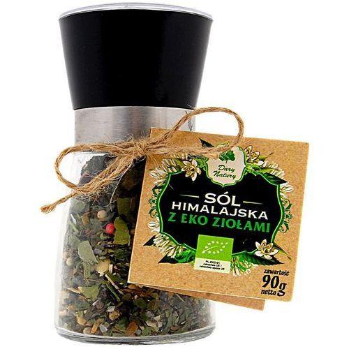 Dary natury - przyprawy i zioła bio Sól himalajska w młynku z ziołami bio 90 g - dary natury (5902741003591)