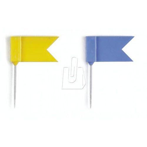 Szpilki z chorągiewkami EISBÄR® żółte 25 sztuk 1929 04, DU705-06