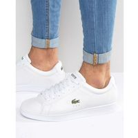 carnaby evo blue detail leather trainers - white marki Lacoste