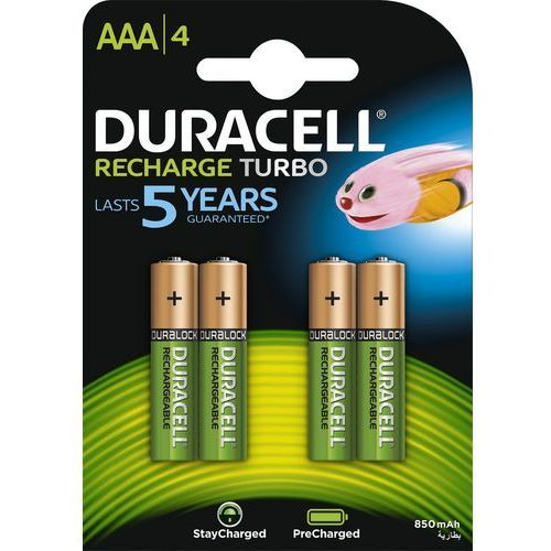 4 x akumulatorki Duracell Stays Charged Duralock R03 AAA 850 mAh (blister) (5000394045118)