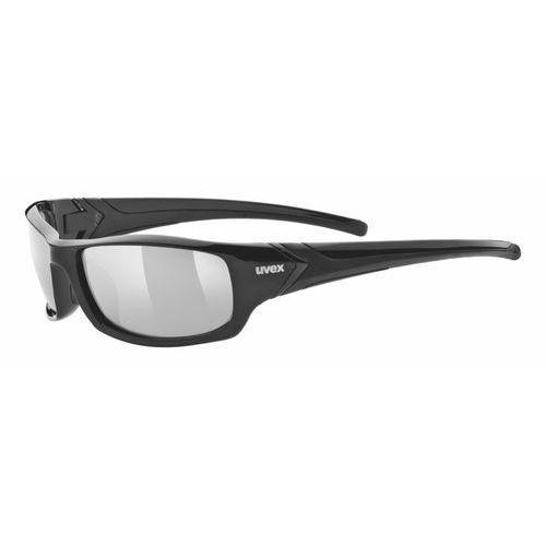 Uvex okulary przeciwsłoneczne Sportstyle 211 Black/Ltm Silver (2216) (4043197228907)