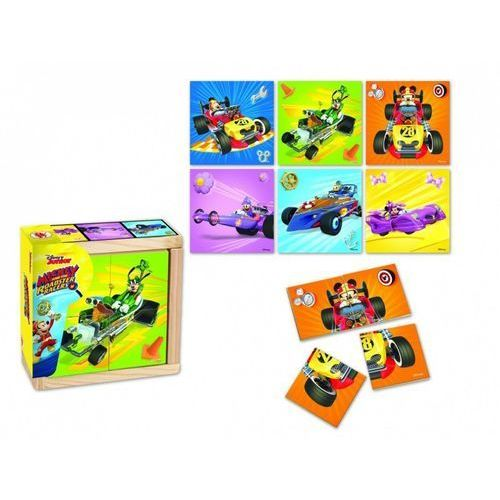 Drewniane klocki małe Mickey and the Roadster Race