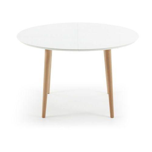 Laforma :: rozkładany biały stół oakland 120-(200) x 90 cm - wzór 1
