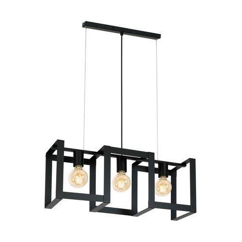 Lampa wisząca Luminex Kartel 3 x 60 W E27 czarna, kolor Czarny