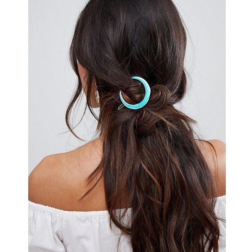 Orelia turqouise cresent hair clip - blue