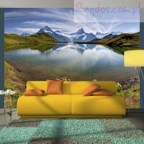 Fototapeta - Góry odbijające się w tafli jeziora, Szwajcaria z kategorii Fototapety