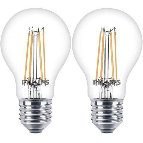 Żarówka LED Philips Lighting 8718696587478, E27, 6 W = 60 W, 806 lm, 2700 K, ciepła biel, 230 V, 15000 h, 2 szt. (8718696587478)