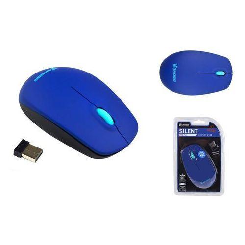 Vakoss Mysz bezprzewodowa tm-741ub silent optyczna 3 przyciski, 1000dpi niebieska (4718308336467)