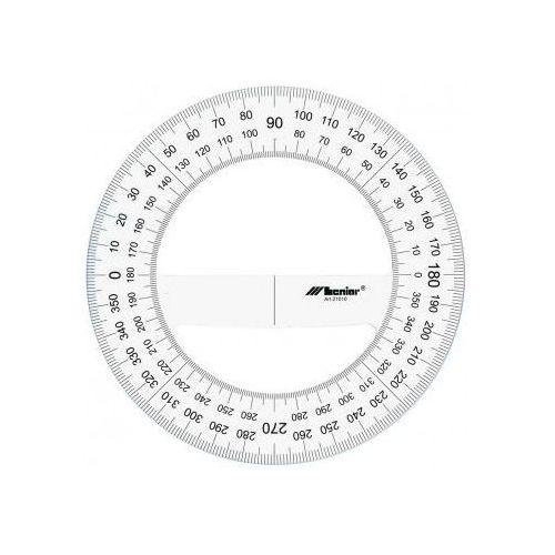 Kątomierz plastikowy śr. 25cm/360 x1 marki Przybory kreślarskie