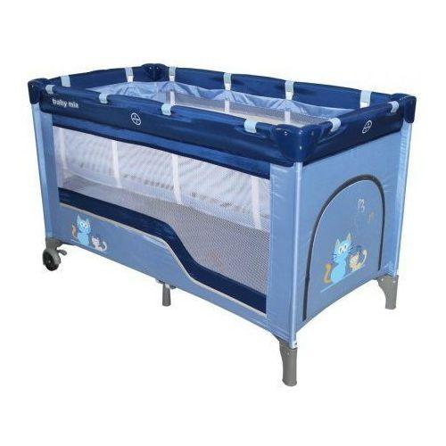 Łóżeczko turystyczne 120x60 Baby Mix HR-8052 2-poziomowe blue