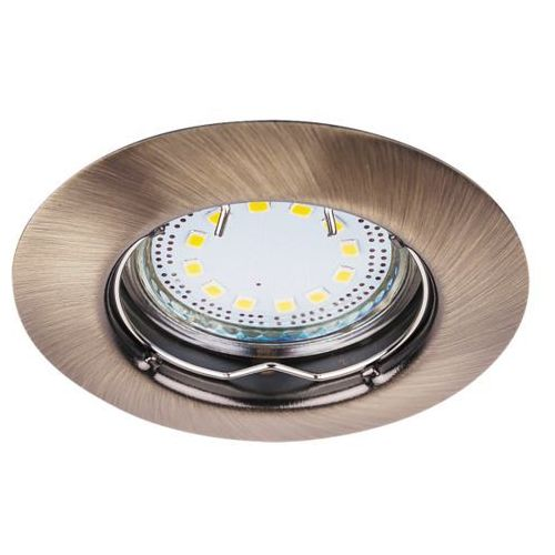 Oczko lampa sufitowa oprawa wpuszczana Rabalux Lite 3X50W GU10 brąz 1048 (5998250310480)