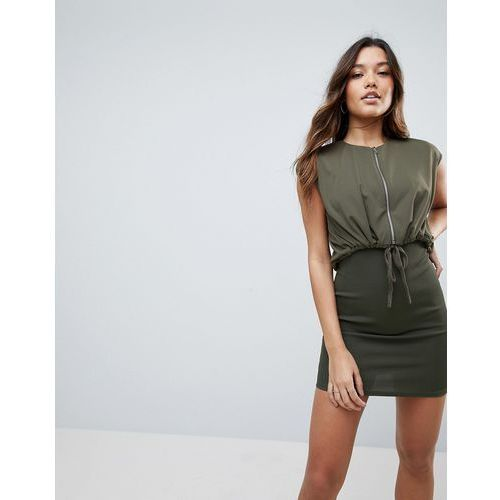 ASOS Mini Bodycon Dress With Jacket - Green