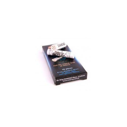 Mr bróg Filtr fajkowy węglowy 9 mm 10szt filtry do fajki diamond
