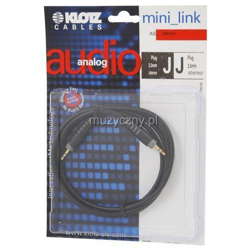 Klotz AS MM 0090 kabel mini TRS / mini TRS 0,9m