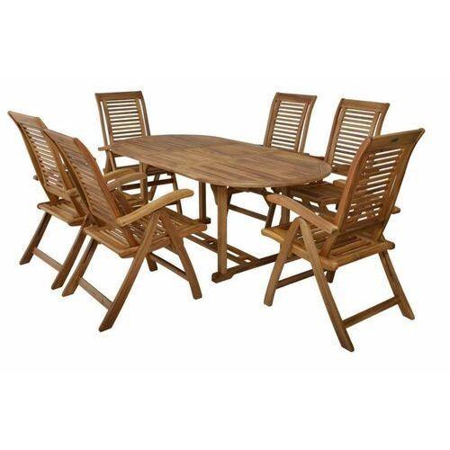 Hecht camberet set meble ogrodowe zestaw mebli ogrodowych stół + 6 krzeseł drzewo akacja - ewimax oficjalny dystrybutor - autoryzowany dealer hecht marki Hecht czechy