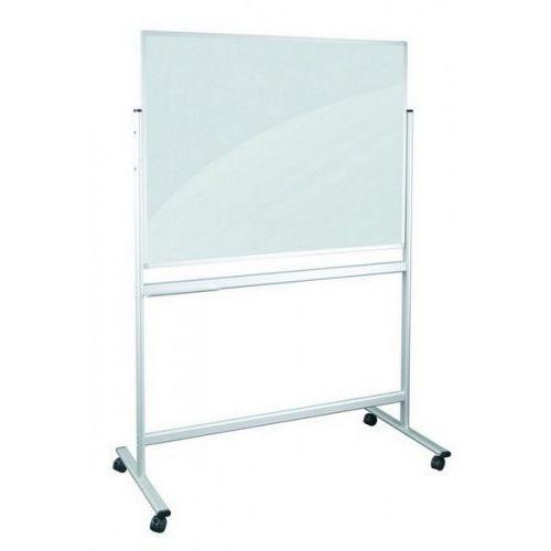 2x3 Tablica dwustronna mobilna o powierzchni szklanej czarno/białej niemagnetyczna 120x90