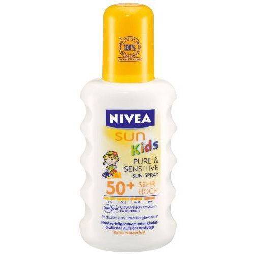 Nivea sun kids protect & sensitive spf50+ preparat do opalania ciała 200 ml